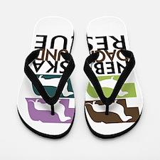 Funny Nebraska Flip Flops