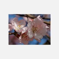 Almond blossom 002 5'x7'Area Rug
