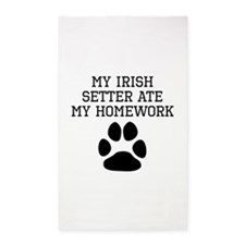 My Irish Setter Ate My Homework Area Rug