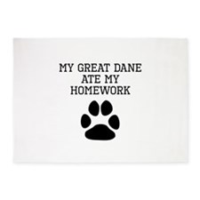 My Great Dane Ate My Homework 5'x7'Area Rug