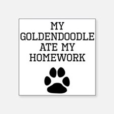 My Goldendoodle Ate My Homework Sticker