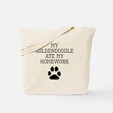 My Goldendoodle Ate My Homework Tote Bag