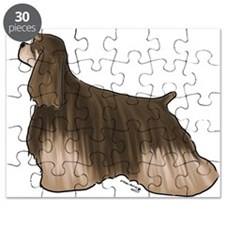 american cocker spaniel chocolate and tan Puzzle