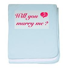 Marry Me baby blanket