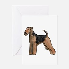 airdale terrier dog breed Greeting Cards