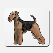 airdale terrier dog breed Mousepad