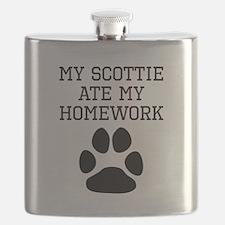 My Scottie Ate My Homework Flask