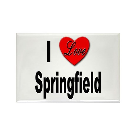 I Love Springfield Rectangle Magnet (10 pack)