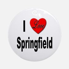 I Love Springfield Ornament (Round)
