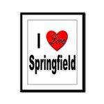 I Love Springfield Framed Panel Print