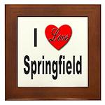 I Love Springfield Framed Tile