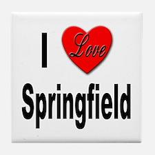 I Love Springfield Tile Coaster