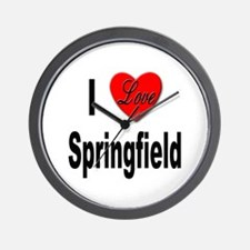 I Love Springfield Wall Clock
