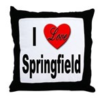 I Love Springfield Throw Pillow