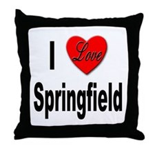 I Love Springfield Throw Pillow
