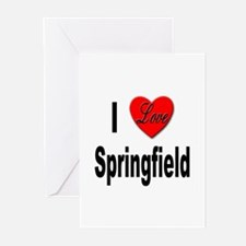 I Love Springfield Greeting Cards (Pk of 10)