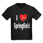 I Love Springfield (Front) Kids Dark T-Shirt
