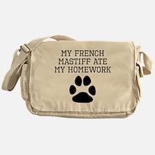My French Mastiff Ate My Homework Messenger Bag