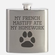 My French Mastiff Ate My Homework Flask