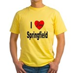 I Love Springfield (Front) Yellow T-Shirt