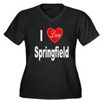 I Love Springfield (Front) Women's Plus Size V-Nec