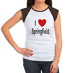 I Love Springfield (Front) Women's Cap Sleeve T-Sh