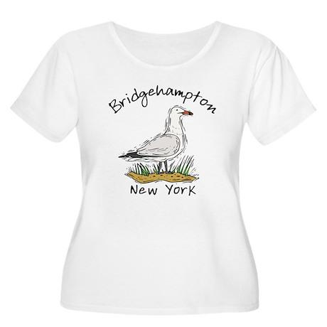 Bridgehampton, NY Women's Plus Size Scoop Neck T-S