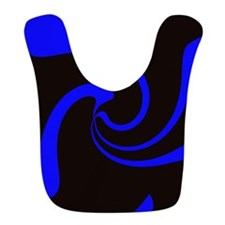 Blue Black Retro Swirl Bib