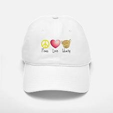 Peace, Love, Weaving Baseball Baseball Cap