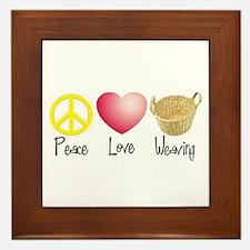 Peace, Love, Weaving Framed Tile