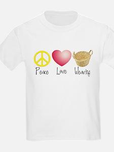 Peace, Love, Weaving T-Shirt