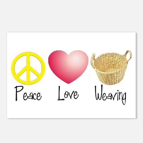 Peace, Love, Weaving Postcards (Package of 8)