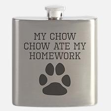 My Chow Chow Ate My Homework Flask