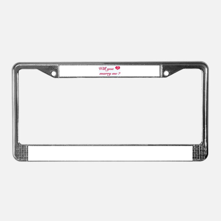 Marry Me License Plate Frame