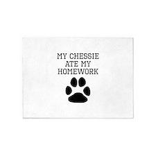 My Chessie Ate My Homework 5'x7'Area Rug