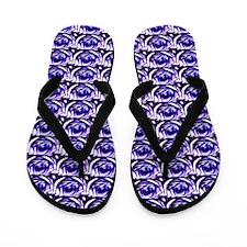 Unique Purple rose Flip Flops
