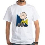 Charlie brown Mens Classic White T-Shirts
