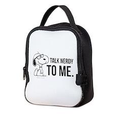 Snoopy Nerd Neoprene Lunch Bag
