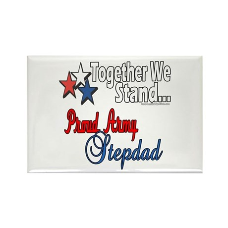 Army Stepdad Rectangle Magnet (100 pack)