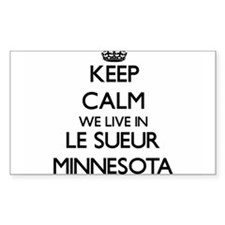 Keep calm we live in Le Sueur Minnesota Decal