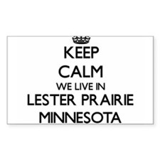 Keep calm we live in Lester Prairie Minnes Decal