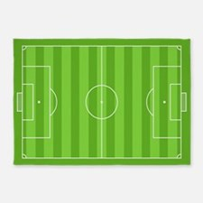 Soccer Field 5'x7'Area Rug