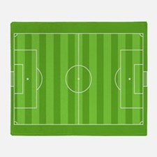Soccer Field Throw Blanket