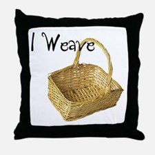 i weave Throw Pillow