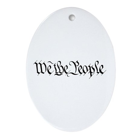 We The People Oval Ornament