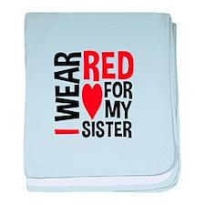 Red Sister baby blanket