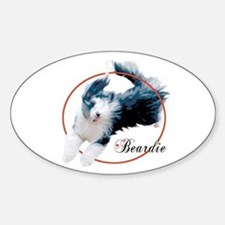 Bearded Collie Cameo Oval Decal