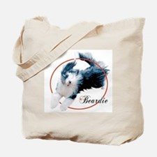 Bearded Collie Cameo Tote Bag