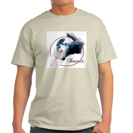 Bearded Collie Cameo Ash Grey T-Shirt