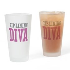 Zip-Lining DIVA Drinking Glass